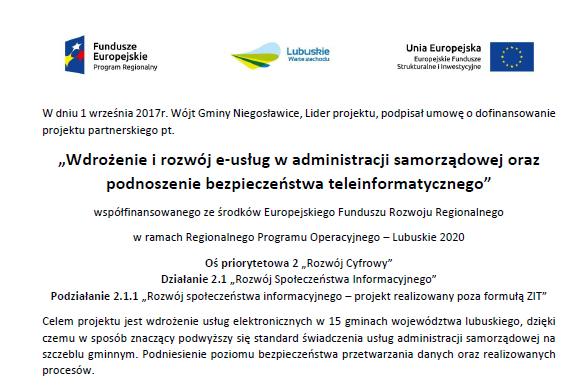 """Ilustracja do informacji: """"Wdrożenie i rozwój e-usług w administracji samorządowej oraz podnoszenie bezpieczeństwa teleinformatycznego"""""""